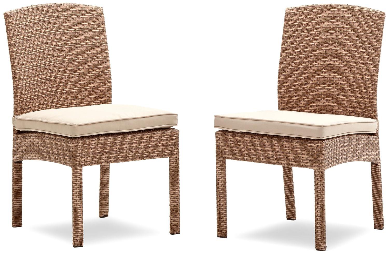 Strathwood Gartenmöbel - Griffen Wetterfester Stuhl aus Polyrattan ...