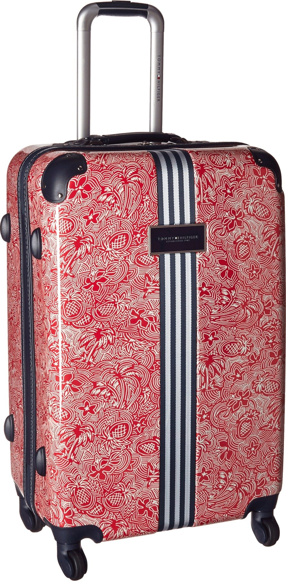 Tommy Hilfiger Unisex TH-683 Pineapple Palm 25'' Upright Suitcase Red One Size