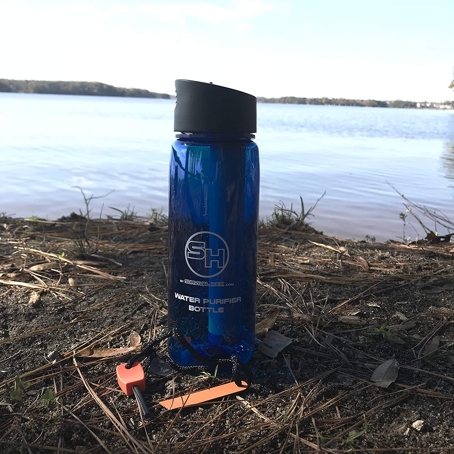 Survival Hax Water Bottle Filter with Purifier Straw