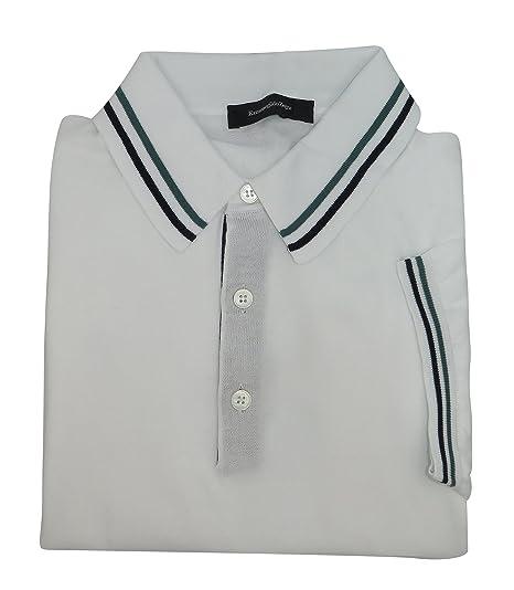 842108afa3eb2 Ermenegildo Zegna Italy White 100% Cotton Short Sleeve Polo T-Shirt (L)