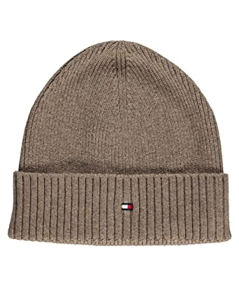 3789aa95 Tommy Hilfiger Men's PIMA CTN CASHMERE Beanie Knitted Hat, Men, taupe, ...
