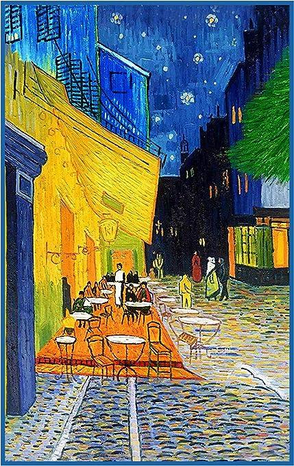 Amazon Com Patron De Punto De Cruz Diseno De Terraza De Cafe Por La Noche De Vincent Van Gogh Arte Manualidades Y Costura