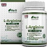 L-Arginin 4000-365 Vegetarische und Vegane Tabletten, Versorgung von L Arginin hochdosie HCL bis zu einem Jahr, 1000mg pro Tablette, Stärker als L-Arginin Kapseln der Konkurrenz, von Nu U Nutrition