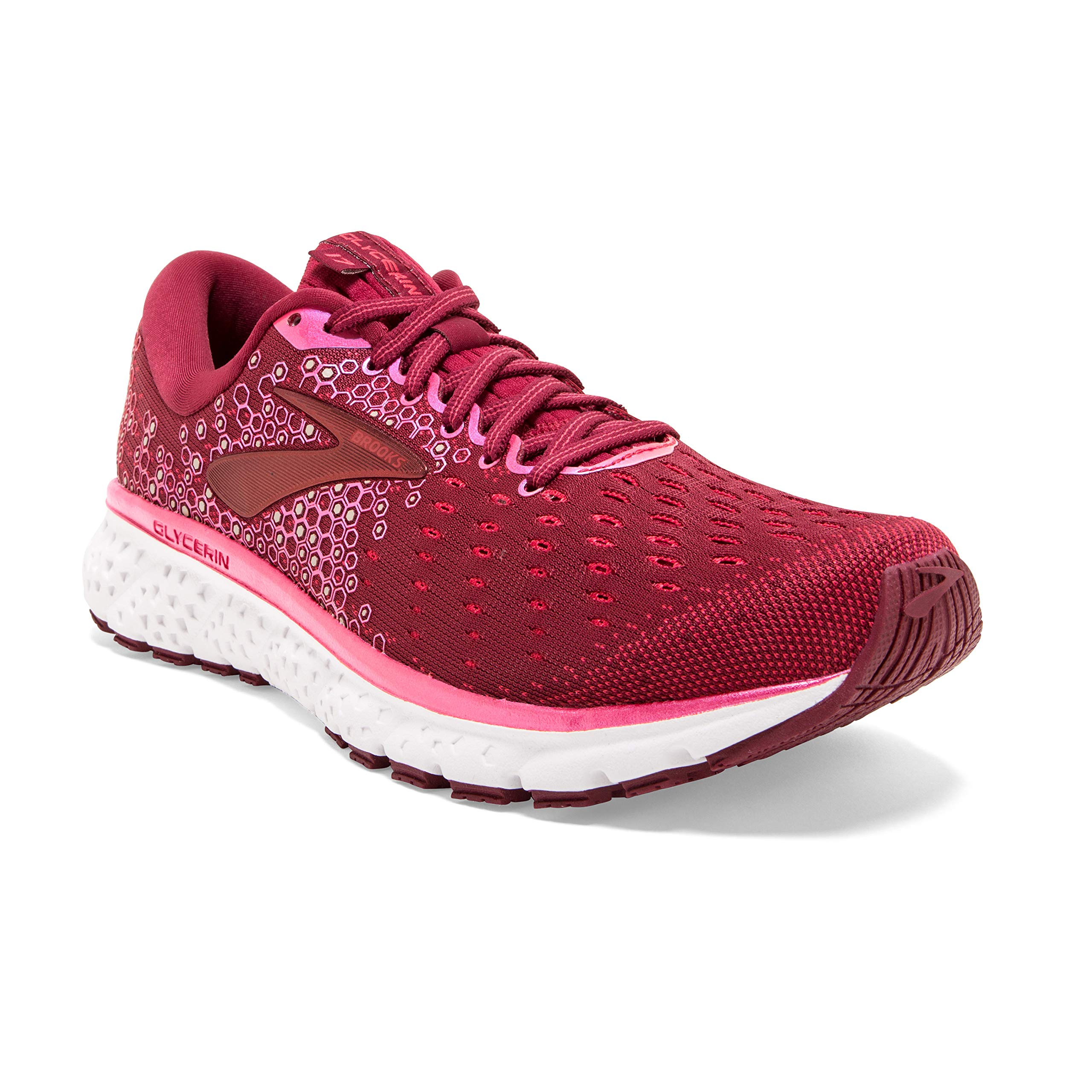 Brooks Womens Glycerin 17 Running Shoe - Rumba Red/Teaberry/Gold - B - 8.0 by Brooks