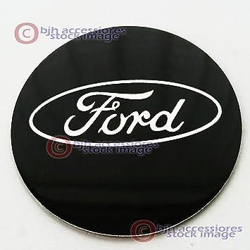 Pegatinas de repuesto para tapacubos Ford de aleación para llantas de 60 mm, placa de acero, color negro, juego de 4, de Aftermarket decals: Amazon.es: ...