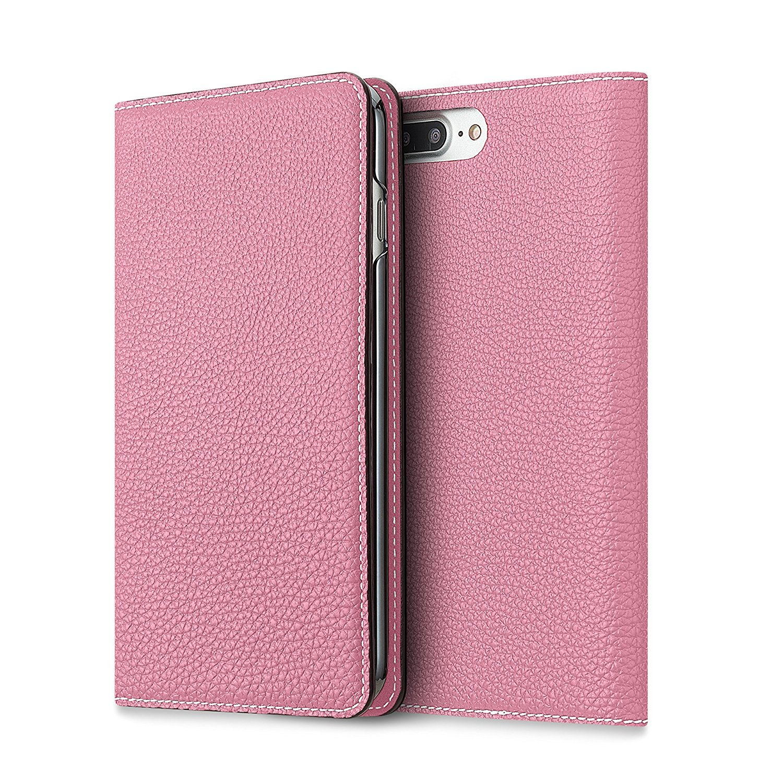 [WINTER SALE 30%OFF] BONAVENTURA iPhone 7 Plus / 8 Plus Leather Flip Wallet Case (Full-Grain Perlinger Leather from Germany) [iPhone 7 Plus / 8 Plus | PINK] by BONAVENTURA