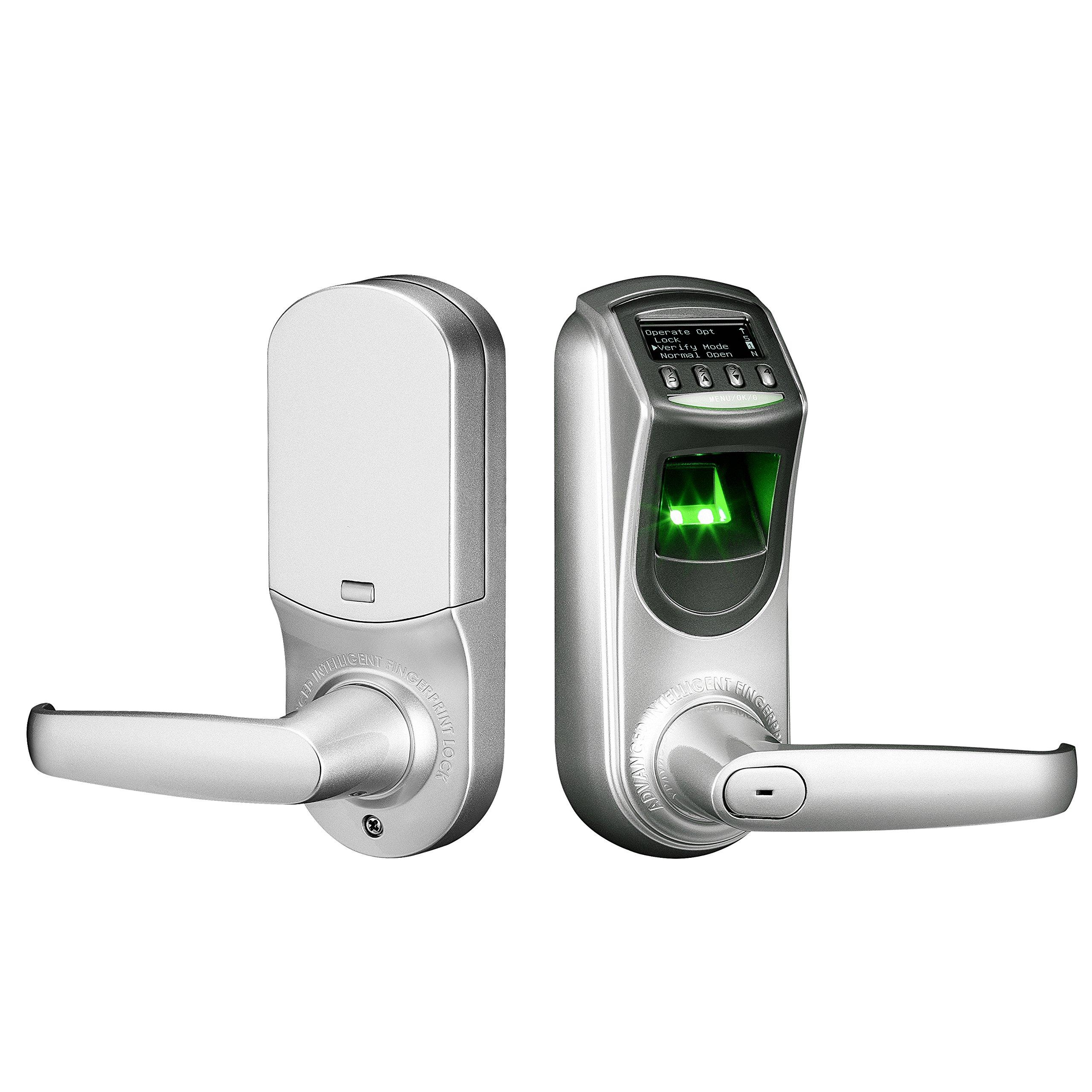 ZKTeco Fingerprint Biometric Keyless Smart Door Lock with Visual Menu Display Support Unlocking Records Tracking&User Data Backup
