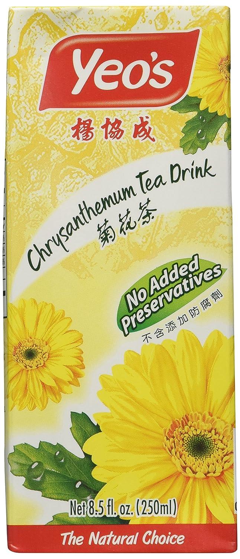 Yeo's Chrysanthemum Tea Drink, Lightly Infused Healthy Tea, Refreshing Asian Drinks, 250 ml (24 Pack)