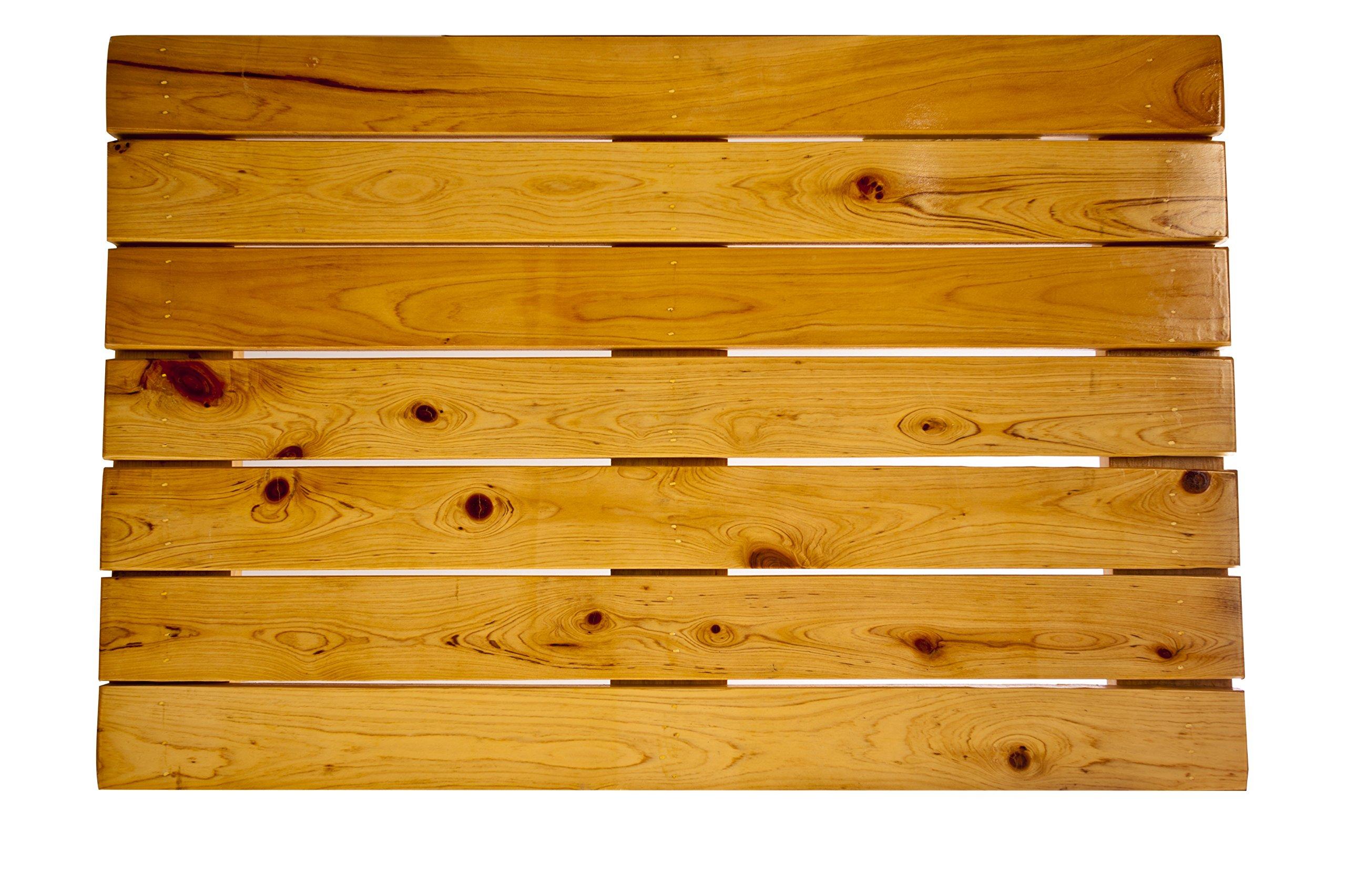 Premium Wooden Bath Mat and Wood Shower Mat