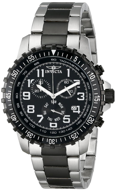 7093d1c44 Amazon.com: Invicta Men's 1326 Invicta II Chronograph Black Dial Two-Tone  Stainless Steel Watch: Invicta: Watches