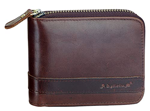 cced7f146c8f Men's Genuine Leather Bifold Wallet Zip-Around Card Holder Money Clip-Gift  Wrapped