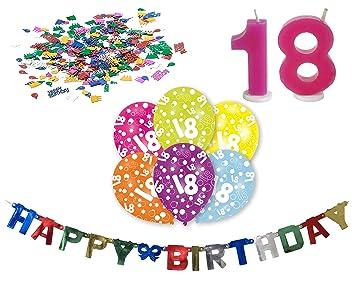 Lesupa Living Happy Birthday 18 Cumpleaños Guirnalda Juego 6 ...