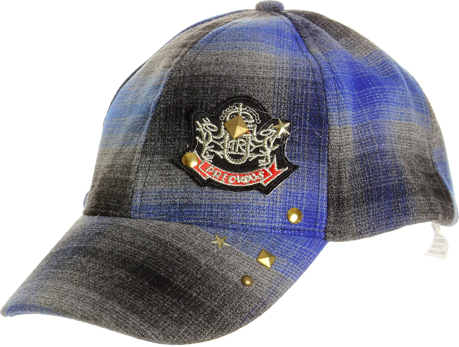 LL Unisex Blue Plaid Baseball Cap Adjustable Embroidered Patch Badge Blue  Lined at Amazon Women s Clothing store  640f7dafe71f