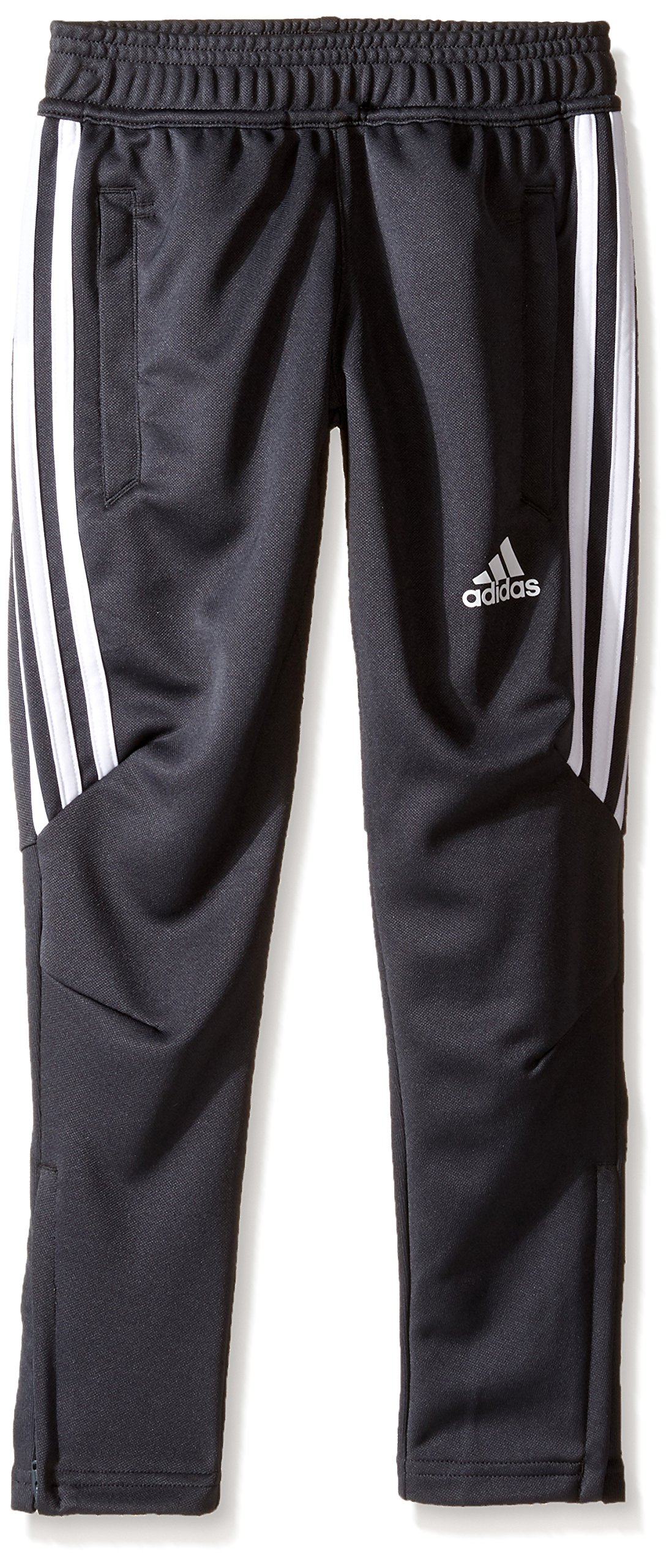adidas Youth Soccer Tiro 17 Pants, Small - Dark Grey/White/White