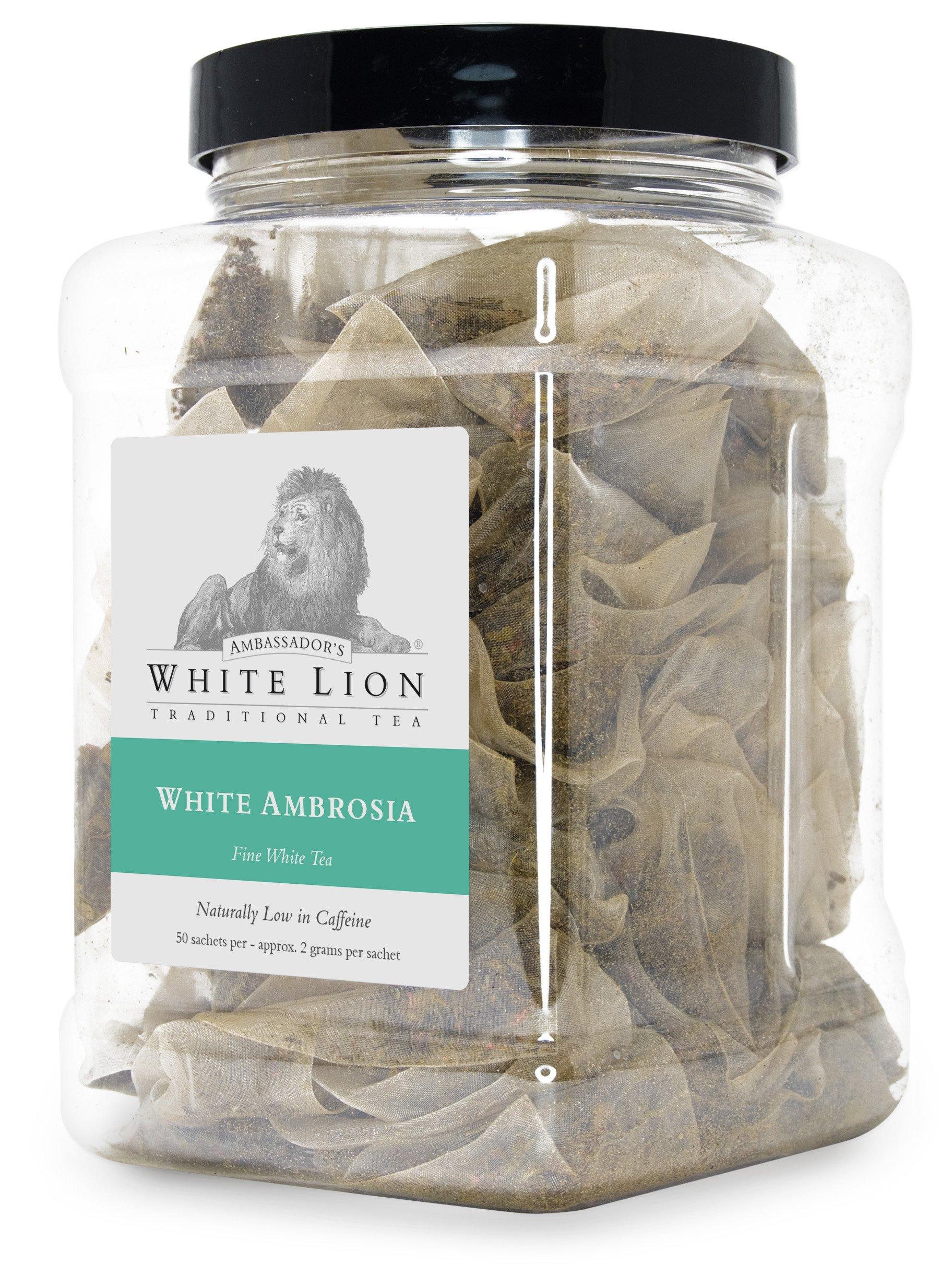 White Lion Limited - White Ambrosia Fine White Tea Bulk Sachets 2-50 Count Case