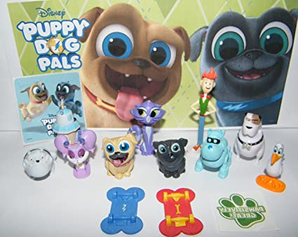 Amazon Com Playful Toys Disney Puppy Dog Pals Deluxe Figure Set Of
