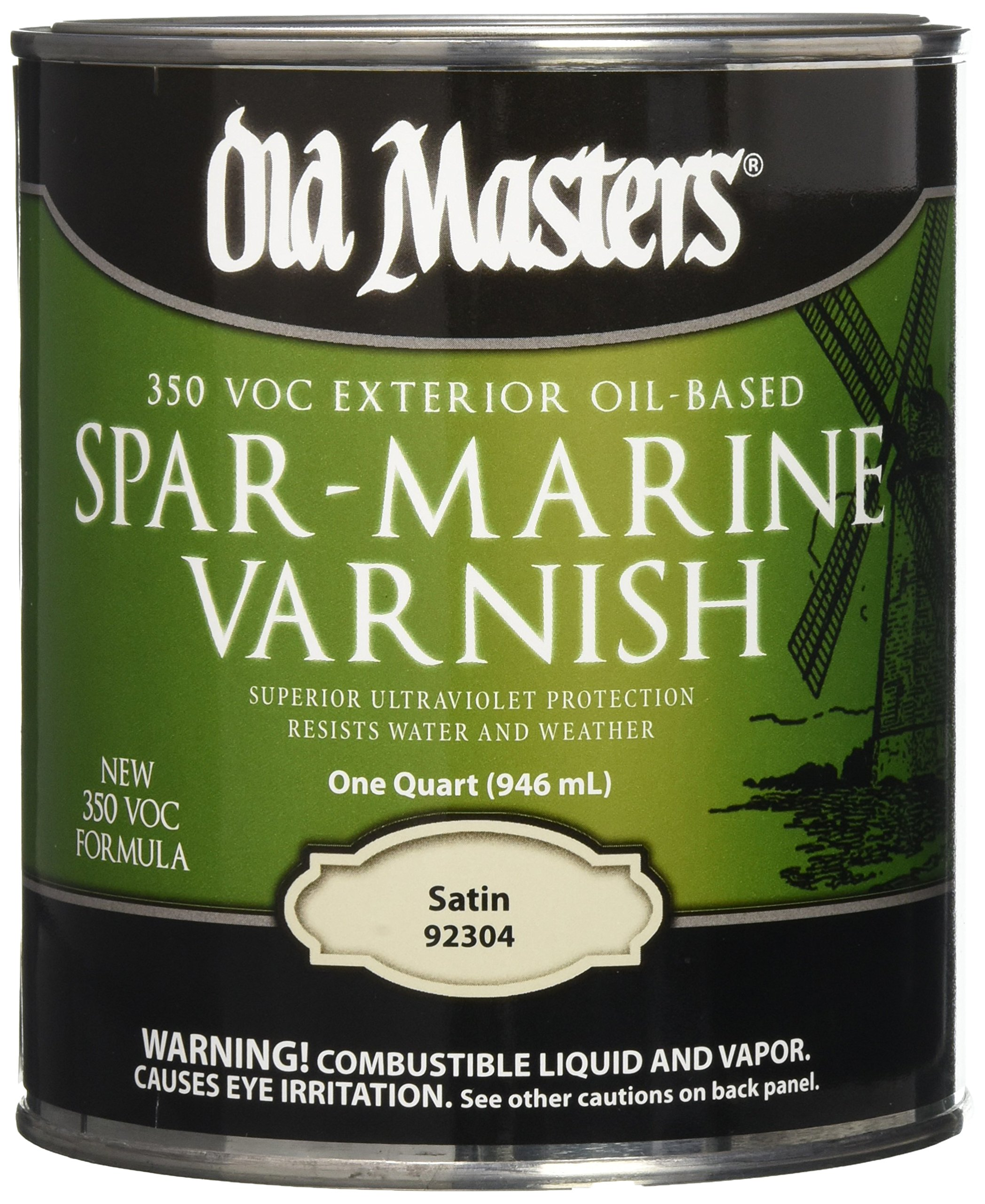 OLD MASTERS 92304 Spar Marine Varnish, Satin