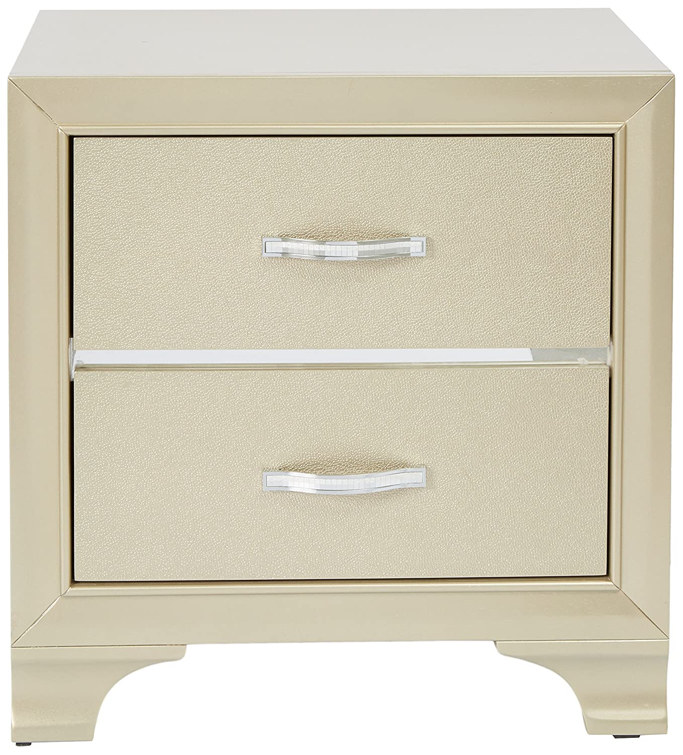 Home Source Night Stand Champagne
