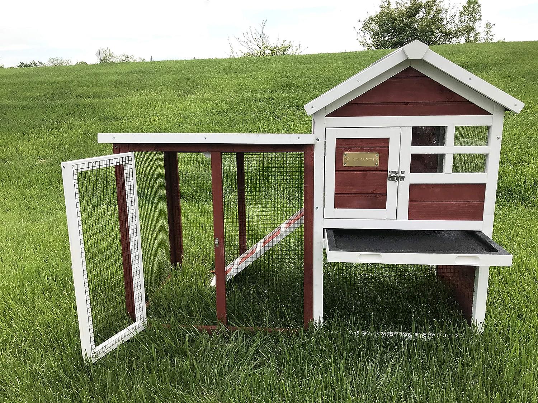 Advantek Stilt House Rabbit Hutch Farmhouse Red