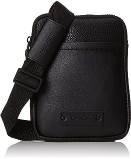 Calvin Klein Multi Task Mini Reporter, Sacs portés épaule homme, (Black), 4x20x16 cm (B x H T)