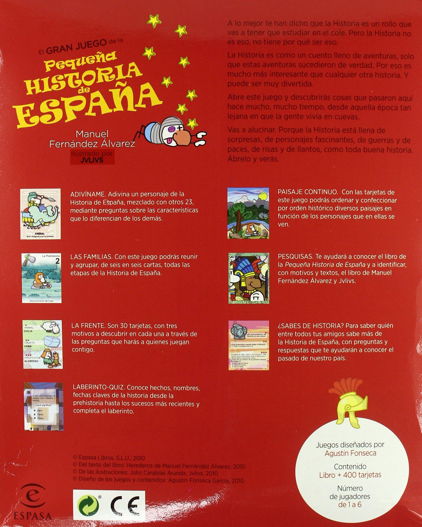 El gran juego de la Pequeña historia de España FUERA DE COLECCIÓN Y ONE SHOT: Amazon.es: Fernández Álvarez, Manuel: Libros