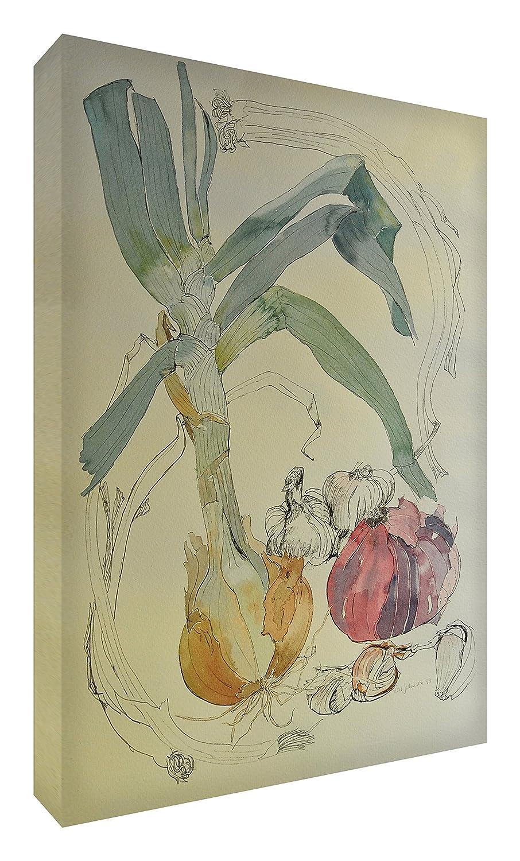 Feel Good Art Leinwand leuchtenden Farben gehören des Künstlers Val Johnson Zwiebel 115x 78x 4cm Größe XXL