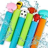 Water Squirt Guns for Kids, 6 PCS Foam Blaster Soaker Gun with Storage Bag, Summer Swimming Pool Party Shooter Water Guns, Ou