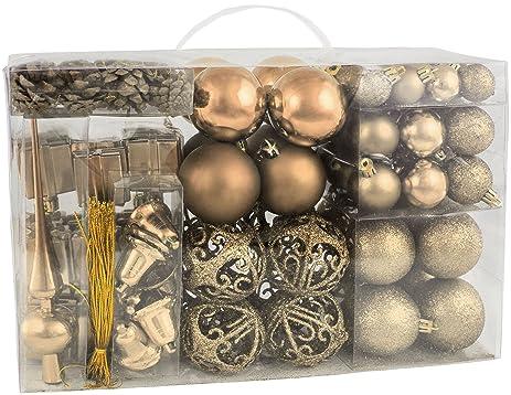 Amazoncom BRUBAKER 102 Pack Assorted Christmas Ball Ornaments