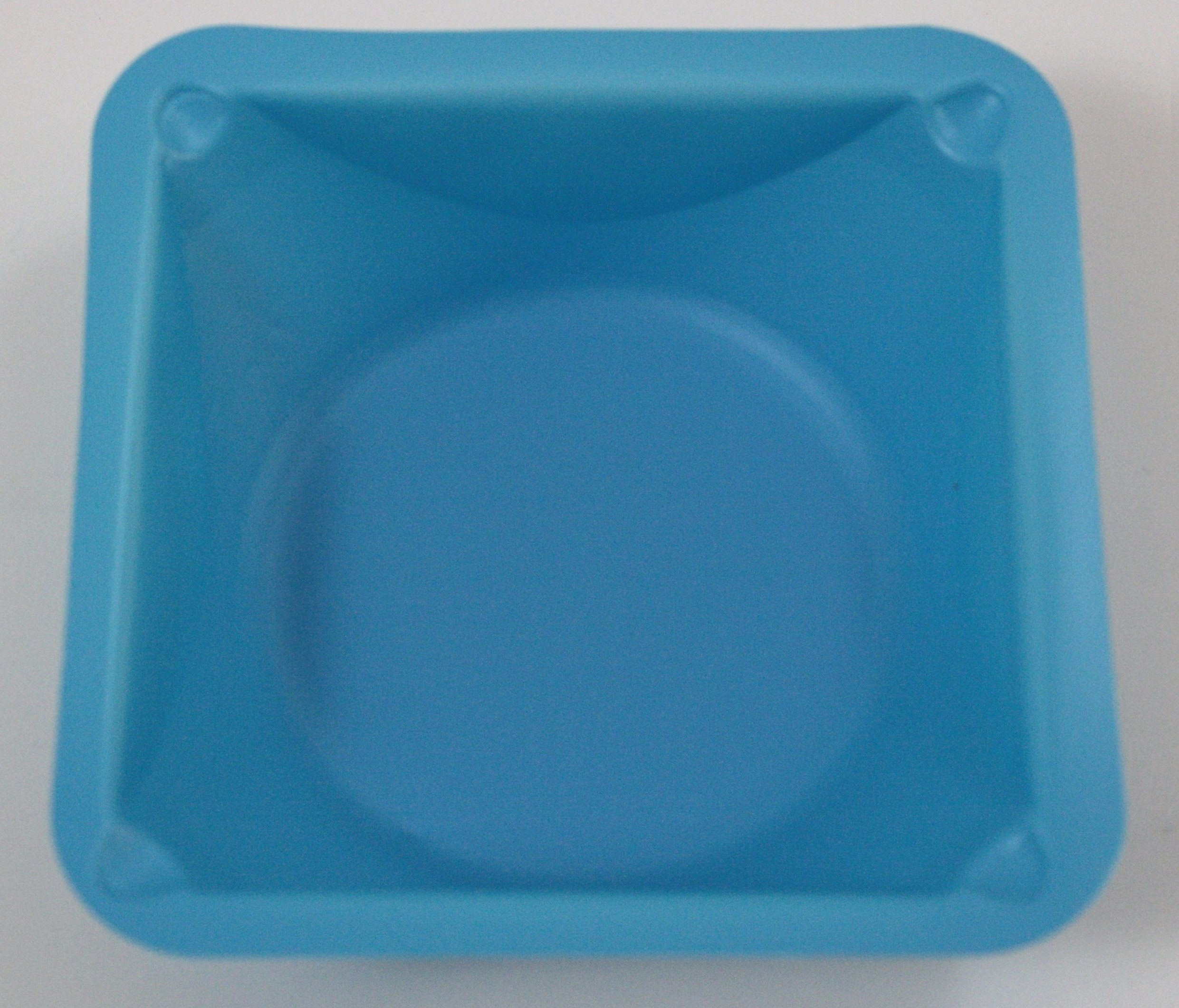 Blue Small Polystyrene Weigh Boats: Sleeve of 500 Weigh Dishes