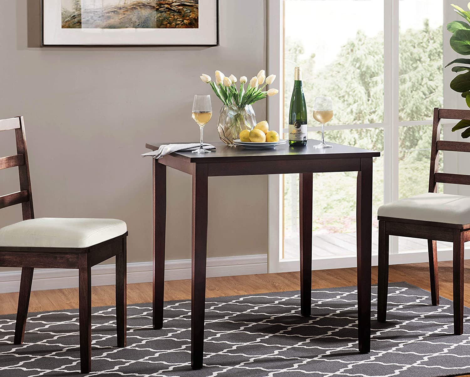 2L Lifestyle Ashland Square Dinning Table,Brown