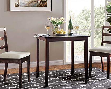 Incroyable 2L Lifestyle B20100001 P Ashland Square Dinning Table, Small, Espresso