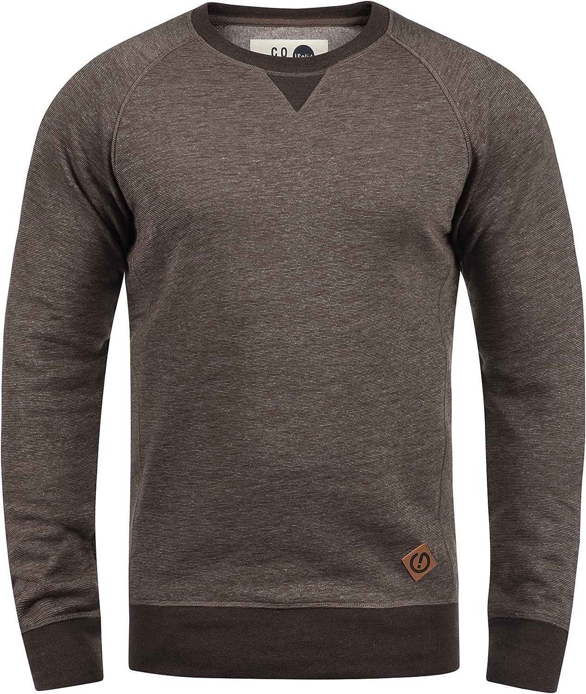 !Solid VituNeck Jersey Sudadera Suéter para Hombre con Cuello Redondo