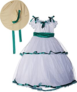 be52ce8e214e Amazon.com: Christmas Costume Southern Belle Dress with Hat ...