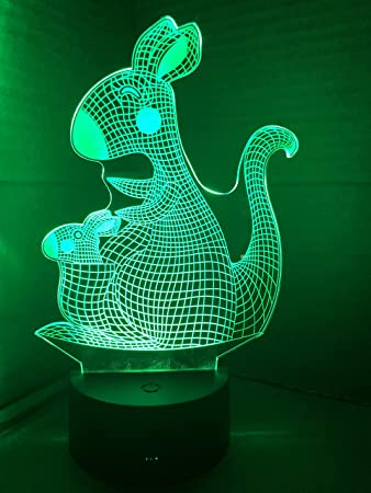 Christmas Kangaroo Lights.Amazon Com Babyseater Kangaroo 3d Night Light Touch Table