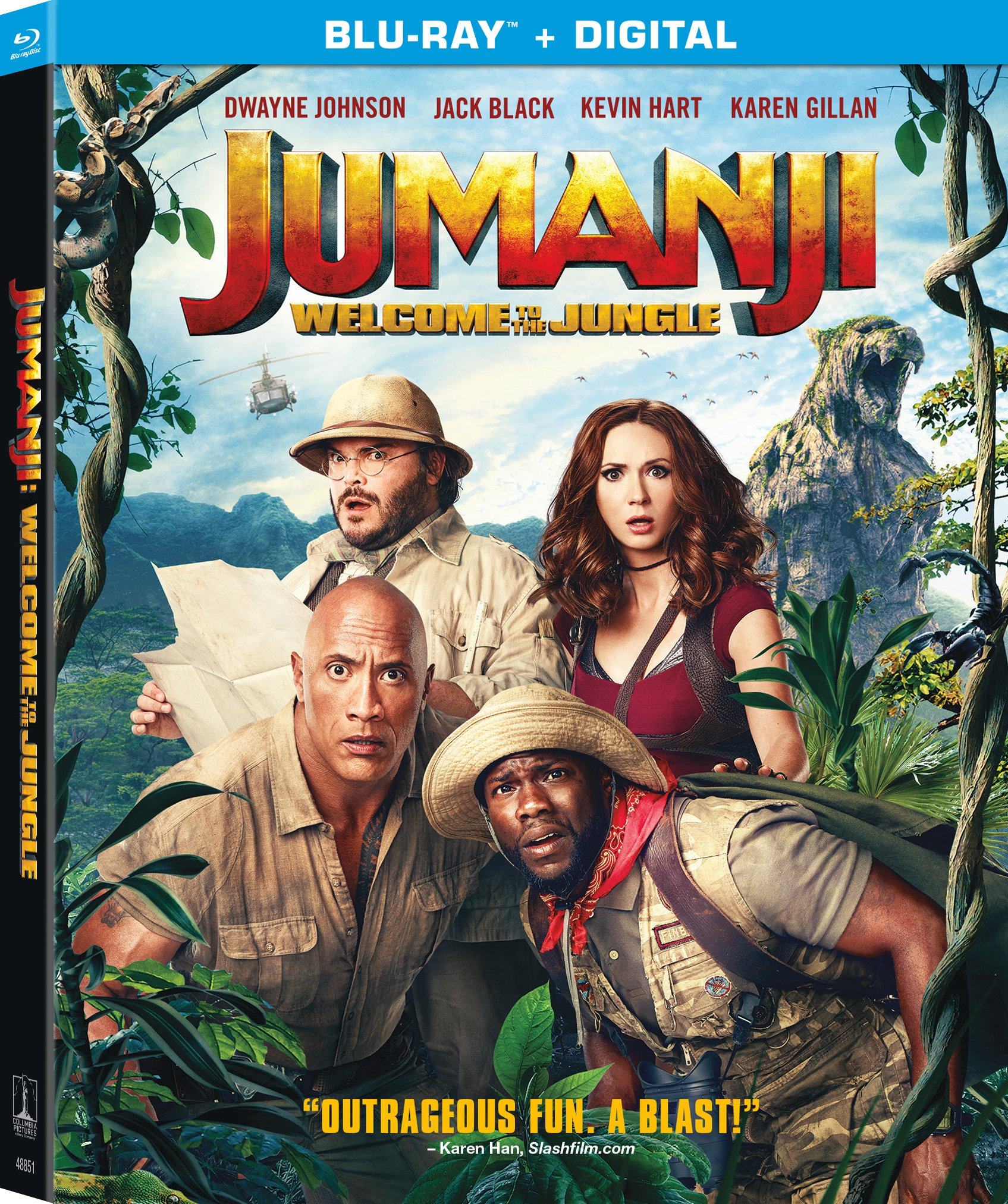 Blu-ray : Jumanji: Welcome To The Jungle (Subtitled, Dubbed, Widescreen, Dolby, AC-3)
