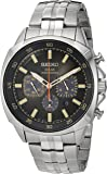 Seiko Men's Quartz Stainless Steel Casual Watch, Color:Silver-Toned (Model: SSC511)