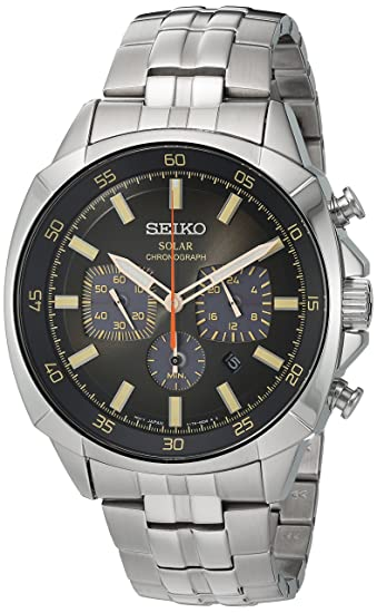 0e31c16d4 Seiko Men's SSC511 Analog Display Japanese Quartz Silver Watch ...