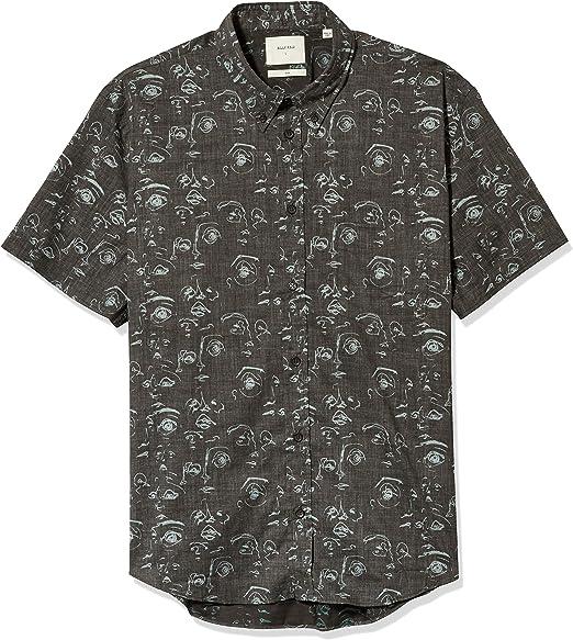 Billy Reid Mens Standard Fit Short Sleeve Button Down Tuscumbia Shirt