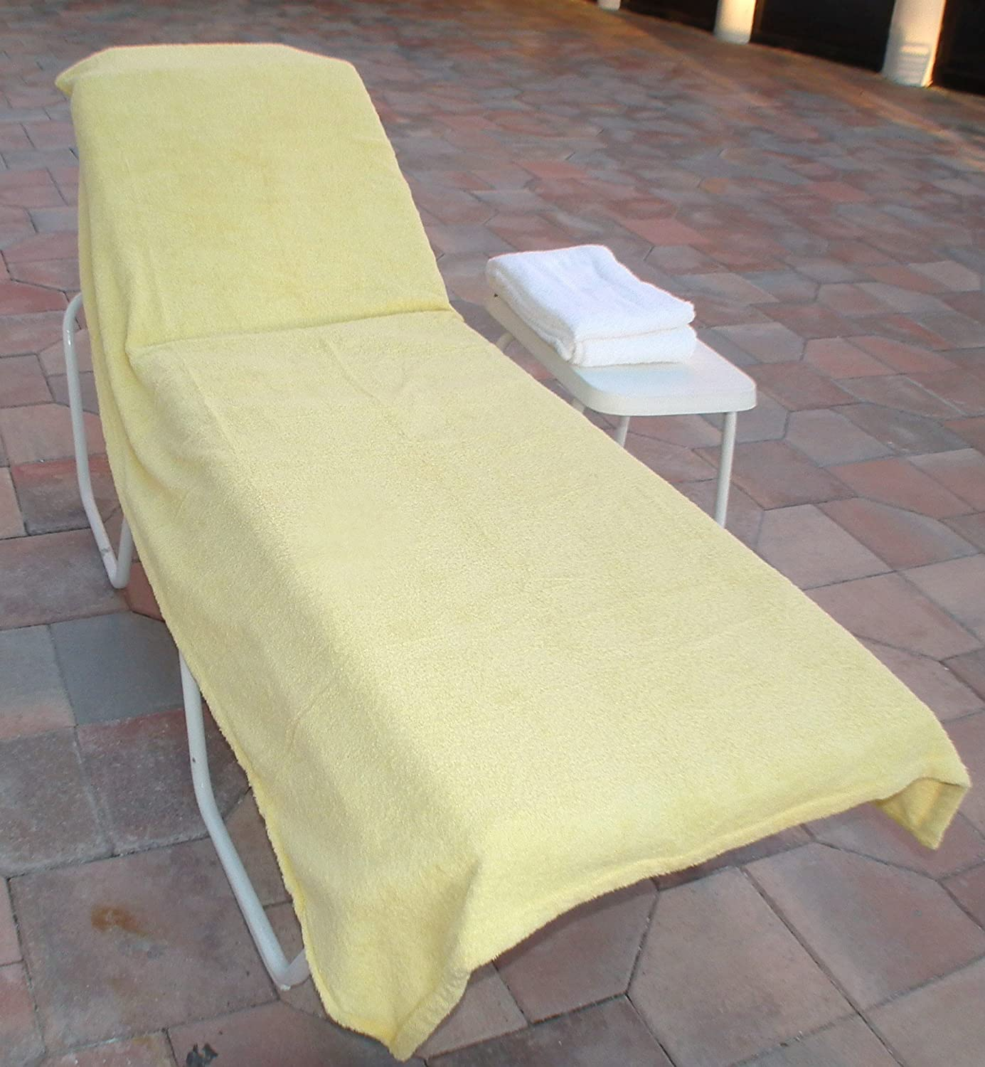 Amazon Lounge Chair Covers Wonder for Pool Spa Hotel yellow
