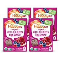 Happy Kid Organic Superfoods Twist Apple Blueberry Pomegranate, Baby Toddler Kid Snack, Resealable, No Added Sugar Non…