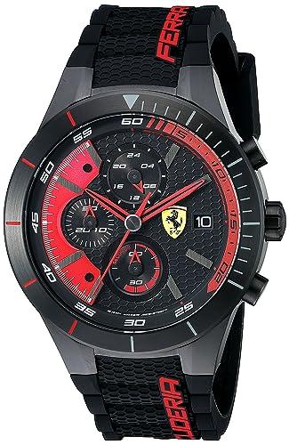 1c9d6c9d932a Ferrari Hombre 0830260 redrev EVO analógico Pantalla Cuarzo Negro Reloj   Amazon.es  Relojes