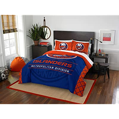 "New York Islanders - 3 Piece Full/Queen Size Printed Comforter & Shams - Entire Set Includes: 1 Full/Queen Comforter (86"" x 86"") & 2 Pillow Shams - Hockey Bedding Bedroom Accessories: Home & Kitchen"