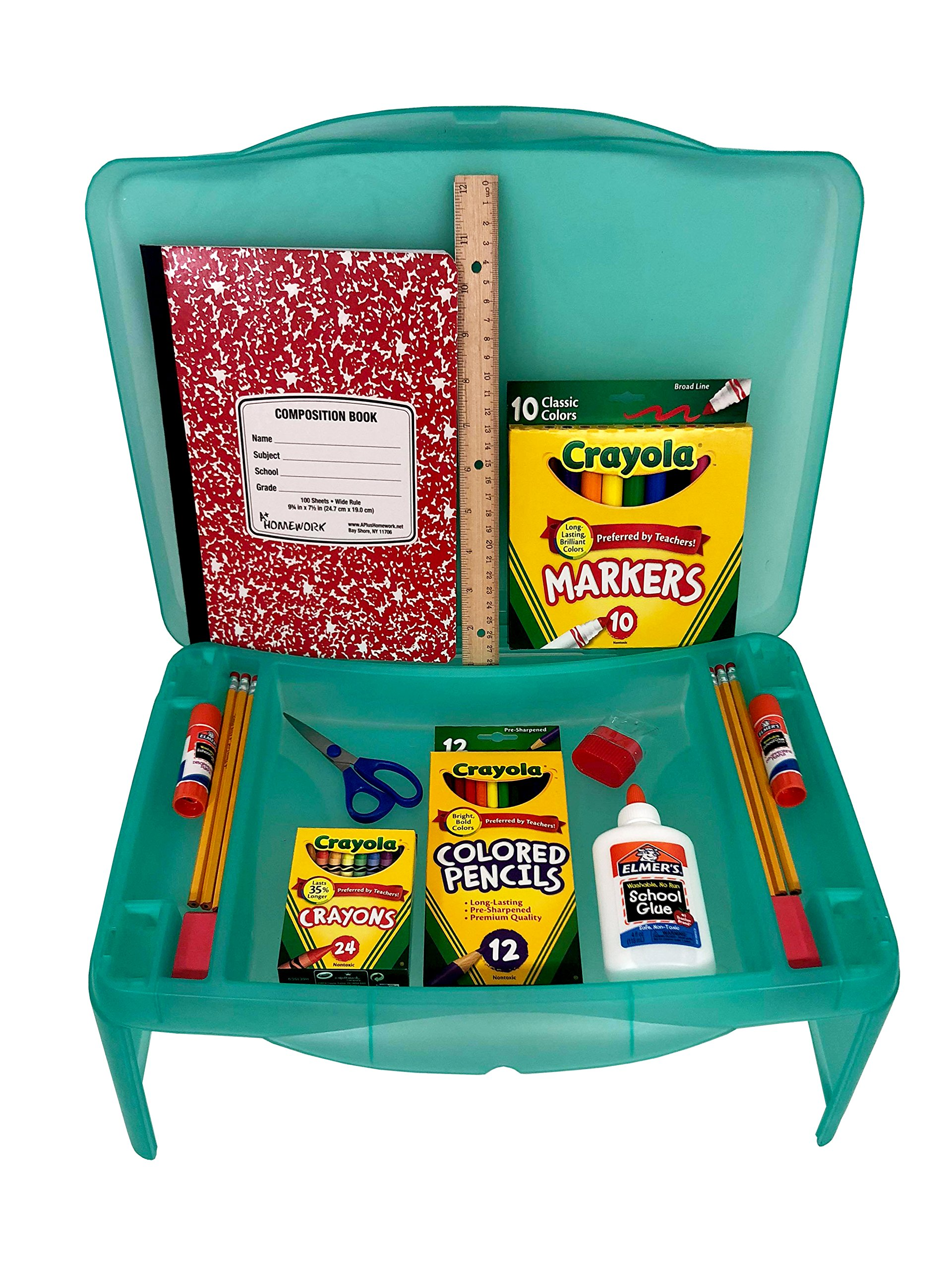 Back to School Student Lap Desk with Supplies by School Supply Boxes