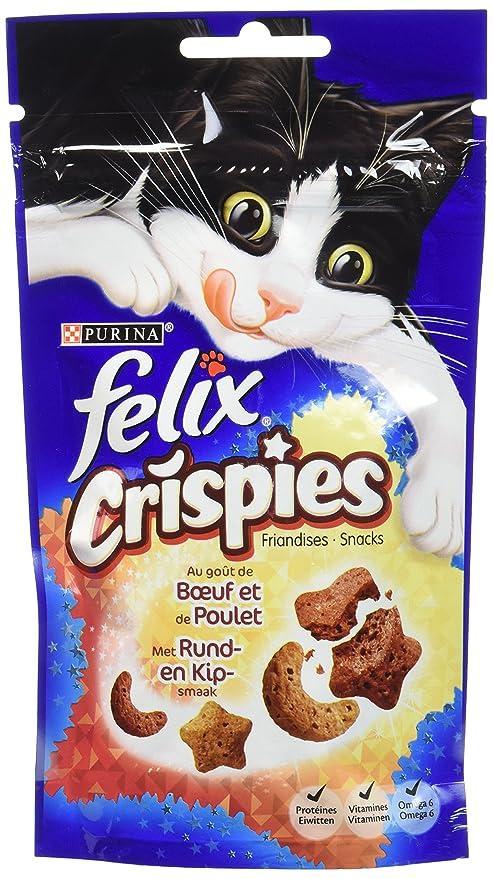 Felix Crispies - Snack para Gatos - Sabor a Elegir - Lote de ...