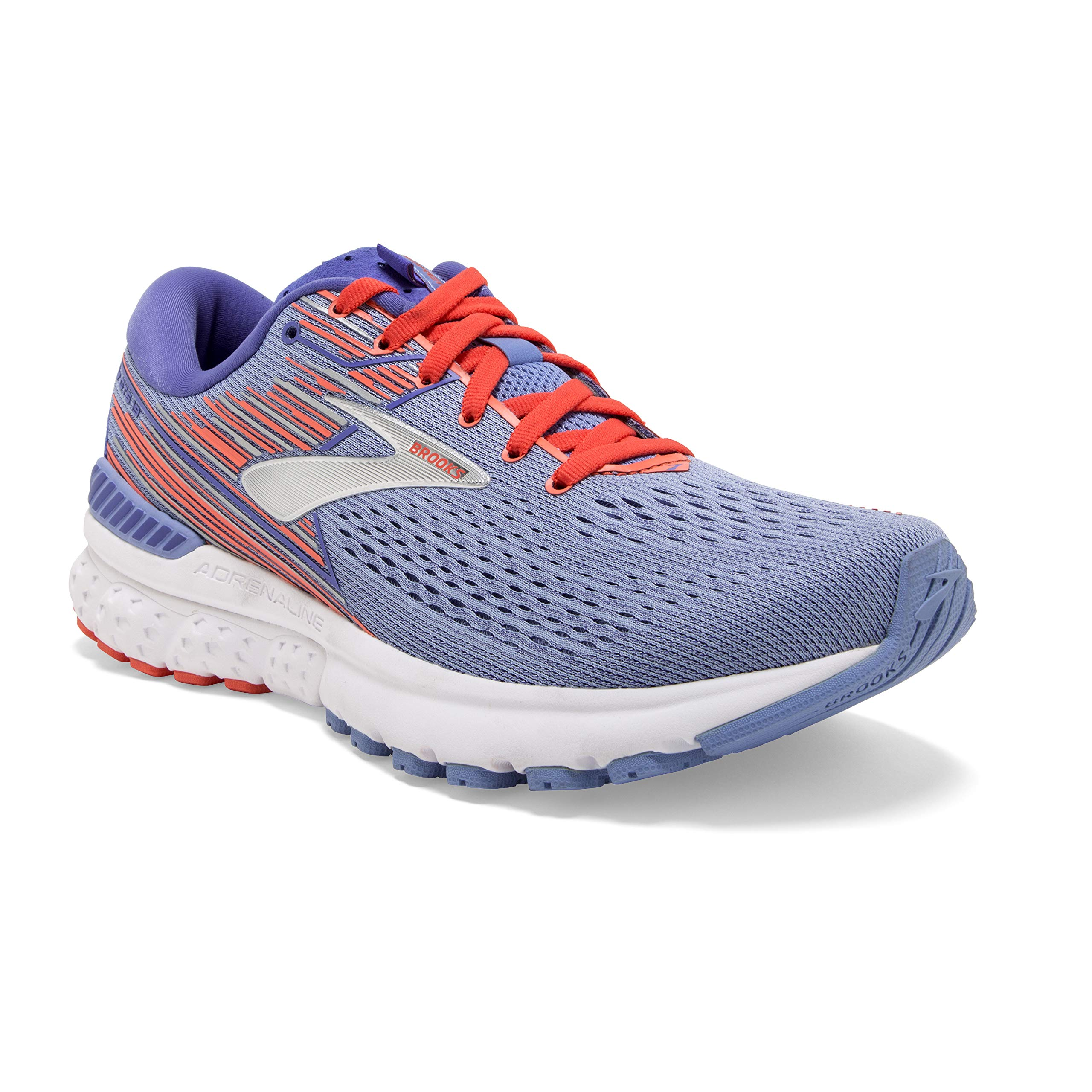 Brooks Womens Adrenaline GTS 19 Running Shoe - Bel Air Blue/Coral/Silver - B - 10.0 by Brooks