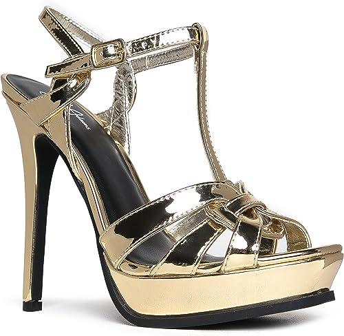 lower price with good looking where to buy Amazon.com | J. Adams Classic Sexy Platform Heels - Patent Vegan ...