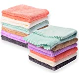 Kyapoo Baby Washcloths 10 Pack 12x12 Inches Microfiber Coral Fleece Extra Absorbent and Soft for Newborns, Infants and…