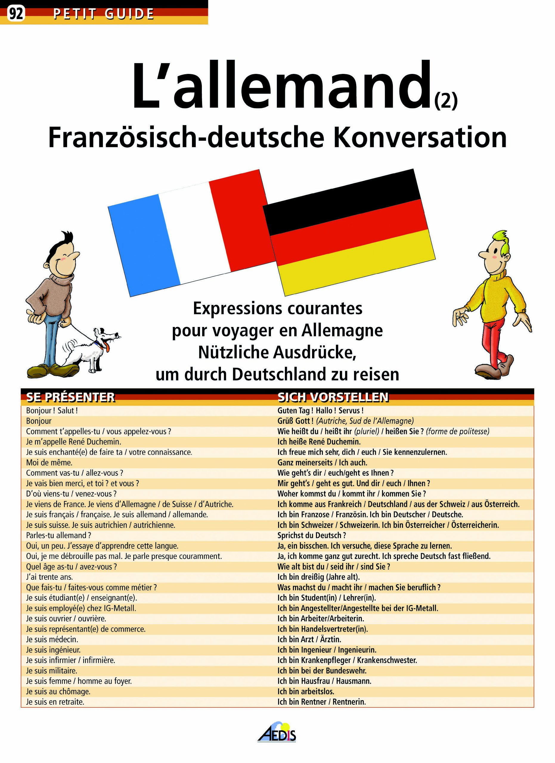 L'allemand tome 2 (Petit Guide 92)