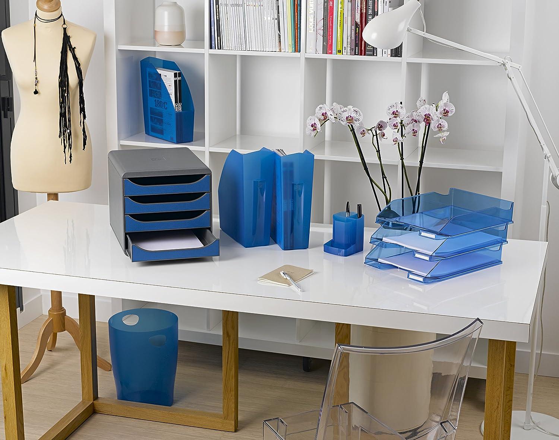 EXACOMPTA 45313D lot de 8 Corbeille /à papier Office Blanc
