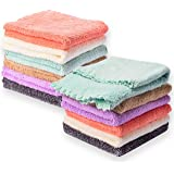 Kyapoo Baby Washcloths 12 Pack 12x12 Inches Microfiber Coral Fleece Extra Absorbent and Soft for Newborns, Infants and Toddle